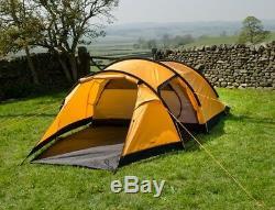 Snugpak Journey Quad Tent 4 Man Camping Shelter, 4 Person Sunburst