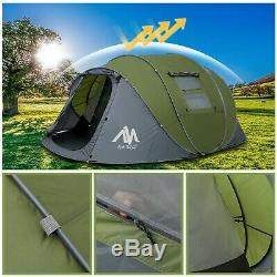 Tent 4-6 Person/Man, Camping Instant Pop Up Tents 5 Window Waterproof Doubl