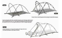 Tent Camp Equipment Nylon Upgrade 2 Man Winter Camping Tent with Mat Naturehike