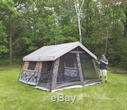 Timber Ridge 8-Man Outdoor Camping Hunting Fishing Waterproof Log Cabin Tent