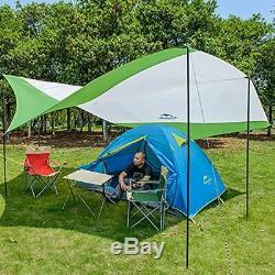 Topnaca Lightweight Camping Tarp Shelter Beach Tent Sun Shade Awning Canopy with