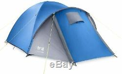 Trail 3 Man Person Dome Tent with Porch Camping Fishing Waterproof