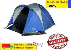 Trespass 6 Man 1 Room Darkened Room Tent Dome Double Layer Camping Hiking