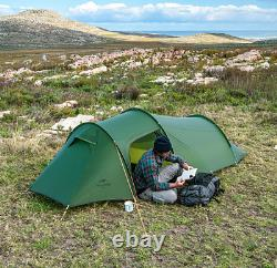 Tunnel Tent Outdoor 2 Persons Camping Tent 20D Silicone/210T Polyester Tent