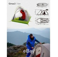 Two 2 Person Man Ultra Lightweight Camping Tent Hiking Trekking Travel Survival