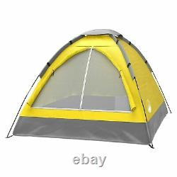 Two Person 2 Man Yellow Tent Carry Bag Kids Adult Camping Easy Assembly
