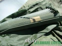 US Military Complete 2x 1-man Field Camping Half Tents with Stakes & Poles