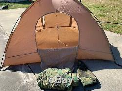 USMC EUREKA Diamond Brand 2 Man TENT w Rain Fly Combat Camp Survival Shelter EUC