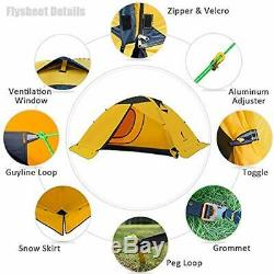 Ultralight Tents 2 Man For Camping Waterproof Double Layer 4 Season Backpacking