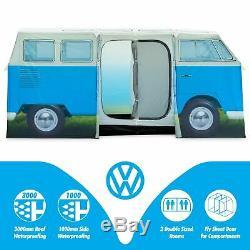VW Camper Van 4 Man Tent, Official Volkswagen Waterproof Camping Tent, 11 Sc