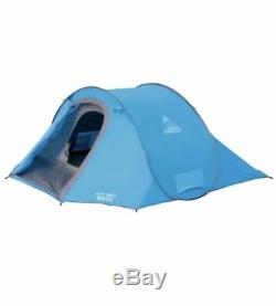 Vango DS300 Outdoor POP-UP Tent 3 Persons Man Spacious Camping Quick Fast Pitch