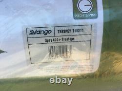 Vango Spey 400+ 4 Man 2 Rooms 2 Windows Tunnel Camping Tent Weatherproof Bnib