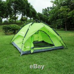 Waterproof Automatic Instant Pop Up Family Tent Camping Hiking Special 3-4 Man