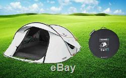 Waterproof Pop Up Camping Tent 2 Seconds Easy FRESH & BLACK 3 MAN