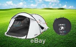 Waterproof Pop Up Camping Tent 2 Seconds Easy II FRESH & BLACK 2 Man