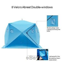 XL Fishing Tent 4 Man Camping Waterproof Portable Ice Shelter Outdoor Gear Bag