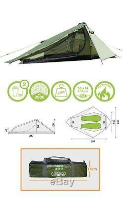 Yellowstone 2 Man Camping Tent Alpine Green