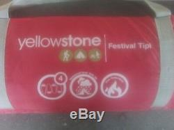 Yellowstone Festival Tipi 4 Man Berth Person Camping Wigwam Tent