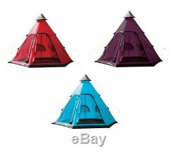 Yellowstone Teepee Tipi Style 4 Man Berth Person Camping Festival Wigwam Tent
